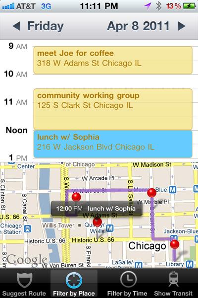 Map View for Calendar