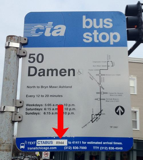 Damen bus sign